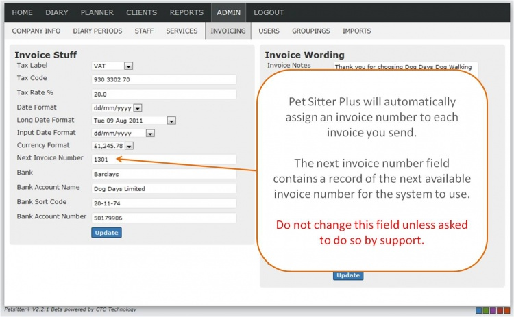 Helpnext invoice number petsitter plus wiki for Invoice numbering system